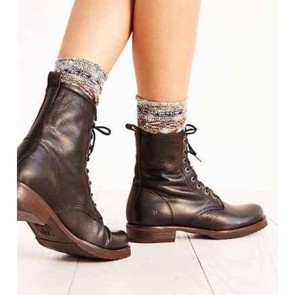 9f6f3af7b Frye Shoes | Veronica Combat Boot Black | Poshmark